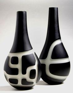 Italian glass designer Anu Penttinen bottles