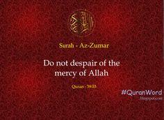Quran Word. Quran Quotes. Recite Quran Daily.