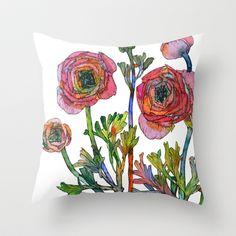 Ranunculus Throw Pillow by Sofia Perina-Miller - $20.00
