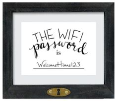 New bedroom guest rooms wifi password Ideas Do It Yourself Wedding, Do It Yourself Home, Guest Room Essentials, House Essentials, Apartment Essentials, Imprimibles Baby Shower, Sweet Home, Diy Home, Home Decor