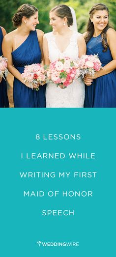 First-time Maid of Honor? Need tips on writing your toast? Read what one MOH learned while writing her first Maid of Honor speech Krista A. Maid Of Honor Dress Etiquette Matron Of Honor Speech, Matron Of Honour, Bridesmaid Speeches, Bridesmaid Duties, Bridesmaid Dresses, Wedding Songs, Wedding Party Dresses, Wedding Speeches, Wedding Sash