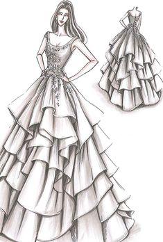 fashion design illustration for beginners, design drawing easy, fashion drawing , Dress Design Drawing, Dress Design Sketches, Fashion Design Sketchbook, Fashion Design Drawings, Fashion Sketches, Dress Drawing Easy, Drawing Art, Drawing Sketches, Fashion Drawing Dresses