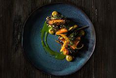 Henrique Sa Pessoa | Cenouras assadas, queijo de cabra, bulghur de frutos secos, azeite de cominhos | Alma Restaurante - Lisboa