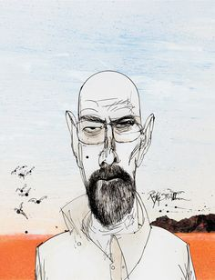Ralph Steadman has joined up with Vince Gilligan to create limited edition Blu-ray cases for all five seasons of Breaking Bad. Walter, Jesse, Gus, Mike, Hank and Saul each feature on a cover. They will go on sale from February 2015