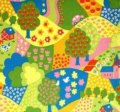Lovely Landscape Japanese Cotton x