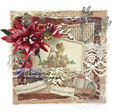 Good Morning, With just under 3 weeks to go until the big day I have been busy making more Christmas cards & having a go at making more ...