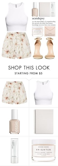 """""""August 22nd, 2016"""" by asrdiniz ❤ liked on Polyvore featuring Haute Hippie, H&M, Stuart Weitzman, Essie, Mead, NARS Cosmetics, Herbivore and Dogeared"""