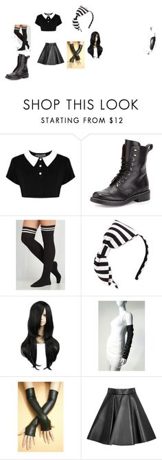 """Emo Cutie"" by xalexairikstudiosx on Polyvore featuring rag & bone, Kate Spade, Chanel and MSGM"