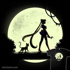 Sailor Queen | Shirtoid #anime #blancavidal #cat #luna #moon #sailormoon #tvshow