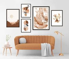 Gallery Wall Set of 5 Scandinavian Abstract Prints, Mid Century Modern Wall Art, Geometric Prints, Minimalist Terracotta Neural Printables Modern Gallery Wall, Modern Wall Art, Marble Wall, Marble Print, Turquoise Wall Art, Abstract Wall Art, Minimalist Art, Neutral Colors, Terracotta