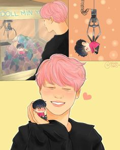 bts fanart it looks like from spring day I thinks it's based off of spring day
