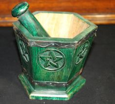 Etsy の Hand made Mortar & Pestle Pentacle by WiccanEssence