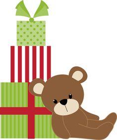 Chrismas Bear - Minus Christmas Cartoons, Christmas Clipart, Christmas Printables, Christmas 2014, Christmas Images, Xmas, Cute Clipart, Clipart Images, Elf Toy