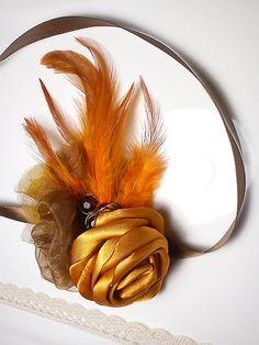 Daisy and oranges.. čelenka   MayBee - SAShE.sk - Handmade Ozdoby do vlasov ed3943d97f