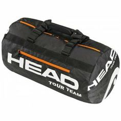 Head 2013 Tour Team Club Tennis Bag by HEAD. $29.95. Mesh side pocket. L x H x W: 56 x 30.5 x 30.5 cm. Front zipper pocket. Adjustable handstraps. 100% polyester. The 2013 Head Tour Team Club Bag features a large main compartment, two side accessory compartments, an end accessory compartment, and padded straps for easy and comfortable carrying. Dimensions: 22X12X12.