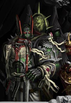 Warhammer Dark Angels, Dark Angels 40k, Warhammer 40k Art, Warhammer Fantasy, Dnd Characters, Fantasy Characters, Rick And Morty Drawing, 40k Armies, Dnd 5e Homebrew
