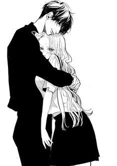 Anime Couples Drawings, Anime Couples Manga, Anime Poses, Chica Anime Manga, Romantic Anime Couples, Romantic Manga, Anime Couples Cuddling, Anime Couples Hugging, Romantic Drawing