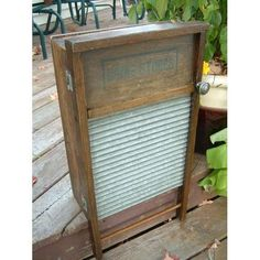 Washboard cabinet- cute way to reuse an antique washboard!