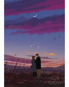 이미지 art anim в 2019 г. art, illustration art и anime art. Cute Couple Art, Anime Love Couple, Cartoon Kunst, Cartoon Art, Art And Illustration, Fantasy Kunst, Fantasy Art, Couple Drawings, Art Drawings