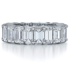 Emerald Cut Diamond Eternity Wedding Ring