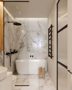 Un appartement design à Minsk Bathroom Design appartement Design Minsk Bathroom Design Layout, Bathroom Design Luxury, Modern Bathroom Design, Small Bathroom Interior, Modern Bathrooms, Master Bathrooms, Bath Design, Bathroom Designs, Minimal Bathroom