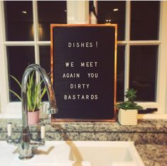 Letterboard Fun #letterboard #dishes