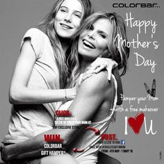 Spend some Mom & You time this Mother's Day by pampering your mom with a free makeover* at the ColorBar store nearest to you. #lovecolorbar #MothersDay