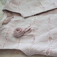 валяный розовый жилет из шерсти бохо стиль свадебный купить