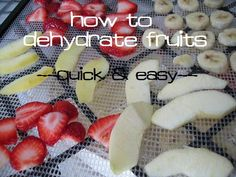 How to Dehydrate Fruits (apples, bananas, strawberries, cranberries, cherries, and fruit rolls - simple and quick methods) :: via Kitchen Stewardship