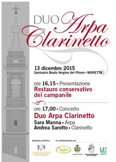 Domenica 13 dicembre 2015 Concerto Duo Arpa e Clarinetto presso il Santuario Beata Vergine del Pilone - Moretta (CN)