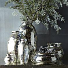 mercury glass makeover west elm mercury vase