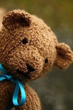 Free knitting pattern for Teddy by Cassidy Clark The size of the finished bear is not listed, as the gauge doesn't matter. As long as the gauge is tight enough so that the stuffing won't show through, the needle size and yarn choice is up to you.