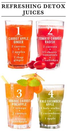 Visit our website and view some simple to make detox juice recipes. These taste great, can help you lose weight and also improve your overall feeling as well.