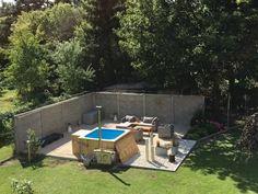 Badetonne eckig Micro Pool für 16 Personen, Suzanne, Falkensee, Deutschland