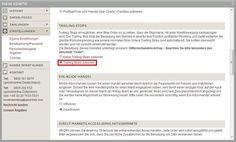 IG Tipp: 'Trailing Stops' kann man auf der Plattform unter 'Konto > Einstellungen > Eigene Einstellungen' aktivieren.