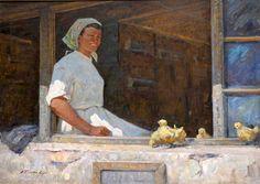 Плотнов Андрей Иванович (1916-1997), Птичница. Целинный край, 1964г