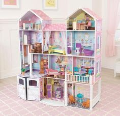 kidkraft country estates doll house Young kids are sure to love the character of the KidKraft Country Estate Dollhouse. This wooden dollhouse is over 4 feet Dollhouse Bookcase, Wooden Dollhouse, Wooden Dolls, Dollhouse Furniture, Dollhouse Interiors, Dollhouse Miniatures, Porch Furniture, Wood Furniture, Furniture Sets