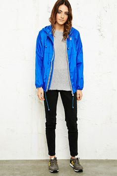 K-Way Claudette Waterproof Jacket in Blue at Urban Outfitters