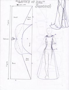 blueprint for a sideless surcoat