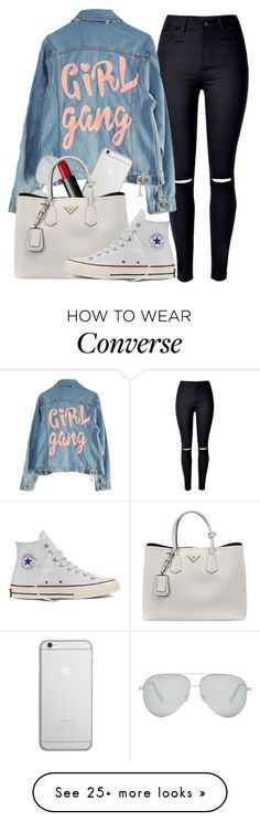 """""""Sans titre #683"""" by kenbou1003 on Polyvore featuring High Heels Suicide, Native Union, Victoria Beckham, NARS Cosmetics, Prada and Converse"""