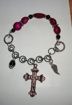 Chain Cross Charm Bracelet by Hopes And Dreams Studio $13.50