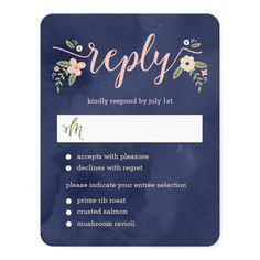 Shop Floral Beauty Editable Color Wedding RSVP Card created by berryberrysweet. Personalize it with photos & text or purchase as is! Formal Wedding Invitations, Wedding Rsvp, Wedding Invitation Design, Floral Wedding, Wedding Cards, Wedding Suite, Wedding Ideas, Summer Wedding Colors, Spring Wedding