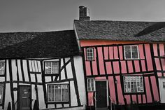 One of the most preserved medieval and Tudor villages ~ Lavenham, Suffolk, England Medieval Houses, Suffolk England, England Uk, English Village, Old Buildings, British History, British Isles, Historic Homes, Architecture Details
