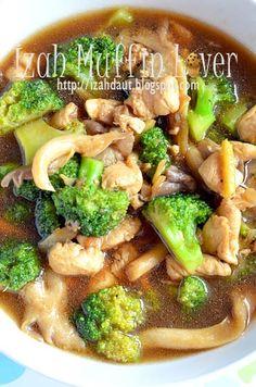 Izah Muffin Lover: Brokoli Tumis Ayam - Menu Kanak-kanak