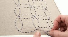 Traditional Sashiko embroidery uses Japanese designs to create geometric repeating patterns. Learn how in this free tutorial.