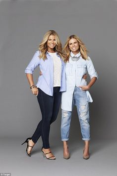In good company: Appearing in a photo shoot for the retailer alongside Channel Nine presenter Sonia Kruger, Fiona glows as she flaunts her famous hourglass figure