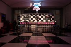 Diner bar; 50s decor; 50s event