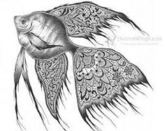 So awesome! This fish is half zentangle, half realist!