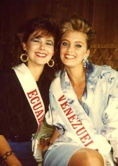 Emma Rabbe, durante su participacion en el Certamen de Miss World 1988..