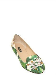 FLORAL BROCADE LOAFERS